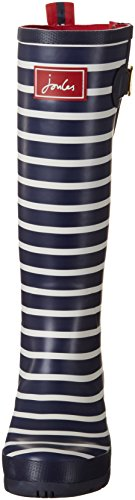 Navy Donna Stripe Welly Gomma Blu french Stivali Di Print Joules w7q8PX8