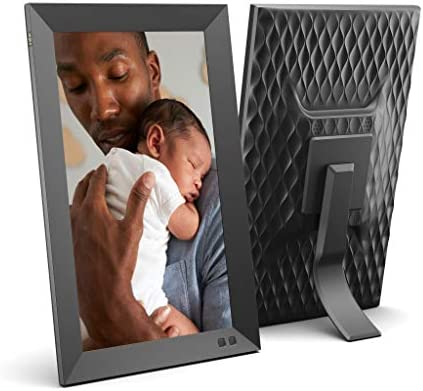 NIX 13.3 Inch Digital Picture Frame – Portrait or Landscape Stand, Full HD Resolution, Auto-Rotate, Remote Control – Mix Photos and Videos in The Same Slideshow