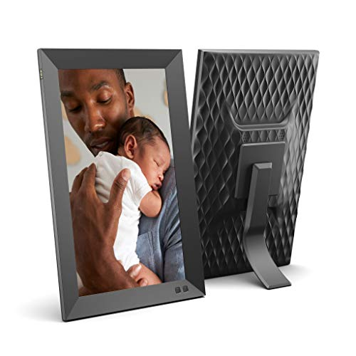 NIX 13.3 Inch USB Digital Picture Frame - Portrait or Landscape Stand, Full HD Resolution, Auto-Rotate, Magnetic Remote Control - Mix Photos and Videos in The Same Slideshow