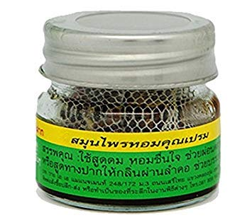 Local Thai Herbs Khun Peama Herb Thai 100% Inhalant Use Smelling Relief Nausea And Vertigo Unisex/1 bottle