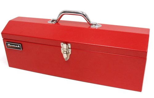 Homak 19-Inch Steel Hip-Roof Tool Box, Short, Red, RD00119200