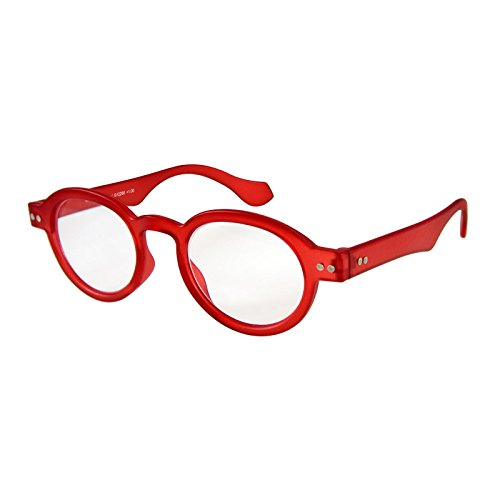I NEED YOU Round Eyeglass Red Frame Doktor Reading Glasses Prescription Eyeglasses For Men & Women Spring Hinge High-Quality Plastic Eyeglasses With Strength - Round Eyeglass Frames Plastic