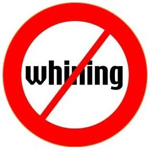 "[Quantity 22] NO WHINING Pinback Buttons 1.25"" pins RED SLASH Fend Off Whiny People"