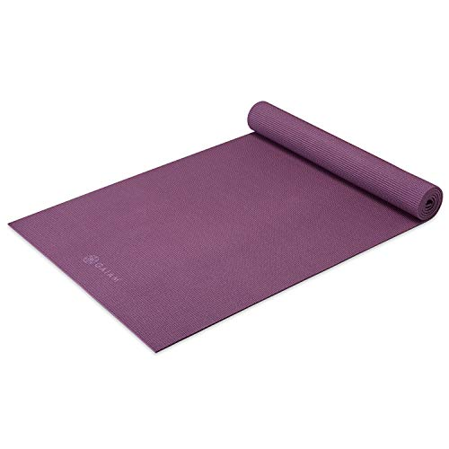Gaiam Yoga Mat – Premium 5mm Solid Thick Non Slip Exercise & Fitness Mat for All Types of Yoga, Pilates & Floor Workouts…
