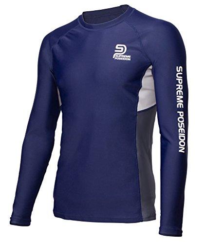 SUPREME POSEIDON Phantom Mens Long Sleeve Rashguard | UV Protection UPF 50+ | Surf and Beach Swimwear