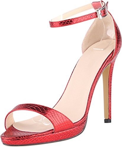 red femme femme Salabobo Compensées Sandales Salabobo Compensées Sandales 0qw48xp