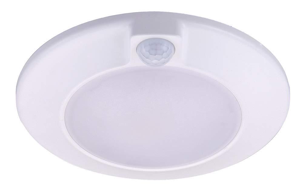 Cloudy Bay Motion Sensor Ceiling Light, 120V CRI90 10W 5000K Bright Day Light,6.5 inch LED Flush Mount Round Lighting Fixture for Garage,Walk-in Closet,Attic,Pantry Wet Location White Finish