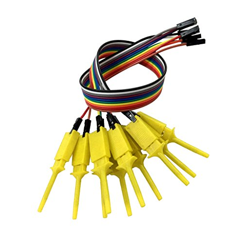 Logic Analyzer Probe - Homyl Set of 10 Test Hook Clip for Logic Analyzer - Yellow