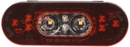 """Grote 54672 6"""" Oval LED Stop Tail Turn Light with Integrated Back-up (Male Pin Termination)"""