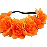 Liobaba Fashion Women Girl Flower Headband Hollow Elastic Hair Band for Wedding Party