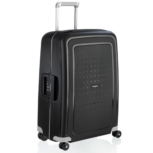 Samsonite S'Cure Hardside Checked Luggage with Spinner Wheels, 28 Inch, Black