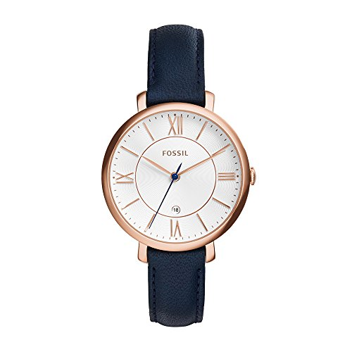 fossil-es3843-jacqueline-rose-gold-tone-watch-with-navy-leather-band