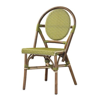 Outdoor Cottage Paris Bistro Fabric Side Chair Color: Green