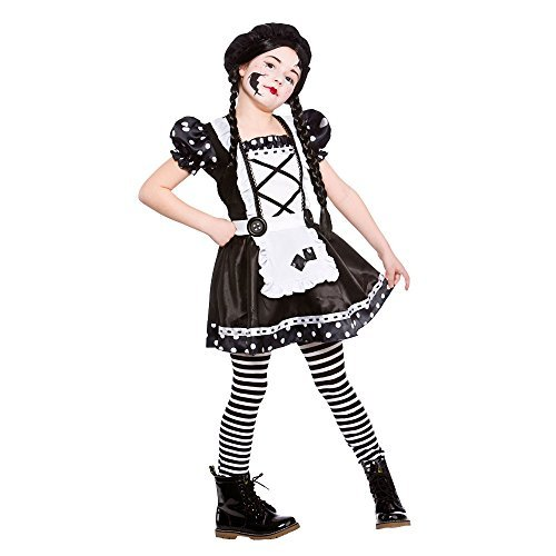 (XL) (11-13) Girls Broken Doll Costume for Halloween Fancy Dress Outfit by Partypackage Ltd
