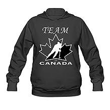 Women's TEAM CANADA Logo Hoodie- Black