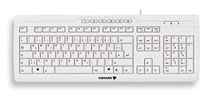 Cherry eVolution STREAM XT - Teclado (USB+PS/2, PC/server, oficina, Color blanco, cURus, c-tick, GOST-R, VCCI, CE, FCC, TÜV/GS, 1.8 m)