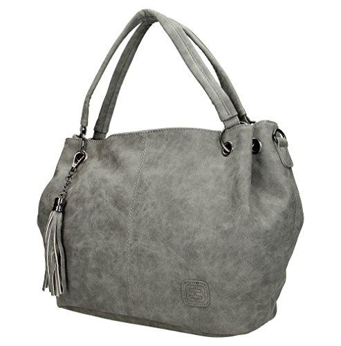 Handbag Enrico Benetti PU Grey 66108 Toulouse Mid rIOqaI1W