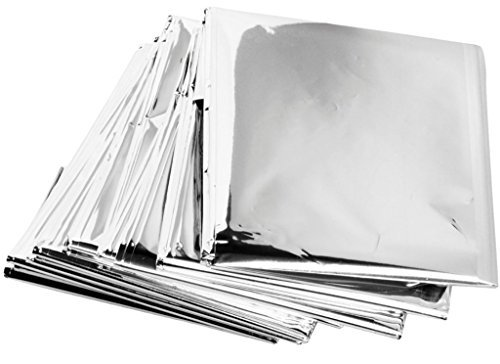 Emergency Mylar Thermal Blankets (Pack of 100) - Individually Packaged by ZIP