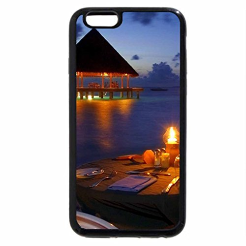 iPhone 6S / iPhone 6 Case (Black) Romantic Sea View Dinner