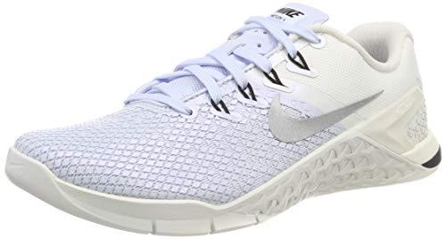 Nike Women's Metcon 4 XD Metallic Training Shoe Half Blue/Metallic Silver/Sail/Black Size 9 M US
