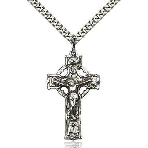 Bliss Sterling Silver Celtic Crucifix Pendant 1 3/8 x 3/4...