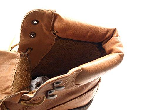 Damen Stiefel warm gefütterte Stiefeletten Boots Camel # 443