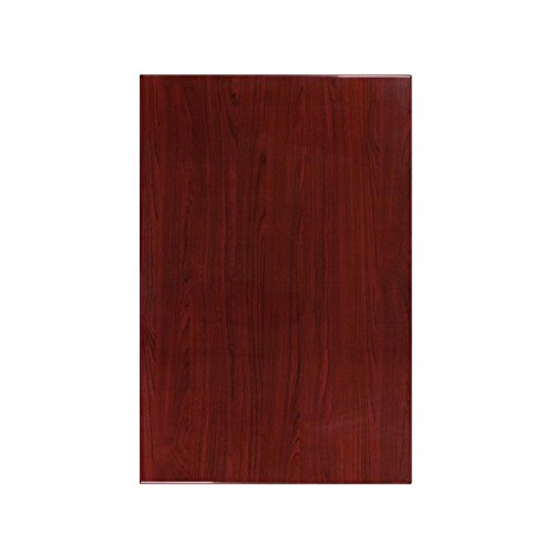 45' Rectangular Table Top (Flash Furniture 30'' x 45'' High-Gloss Mahogany Resin Table Top with 2'' Thick Drop-Lip)