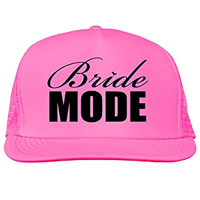 Bride Mode Bright neon truckers mesh snap back hat in 6 Bright Colors