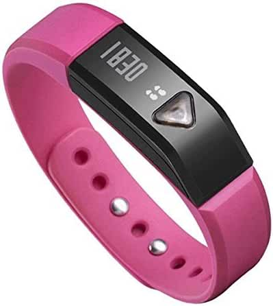EFO-S Pink K5 Wireless Activity and Sleep Monitor Pedometer Smart Fitness Tracker Wristband Watch Bracelet for Men Women Boys Girls Ladies Man iPhone Sumsung HTC (Pink)