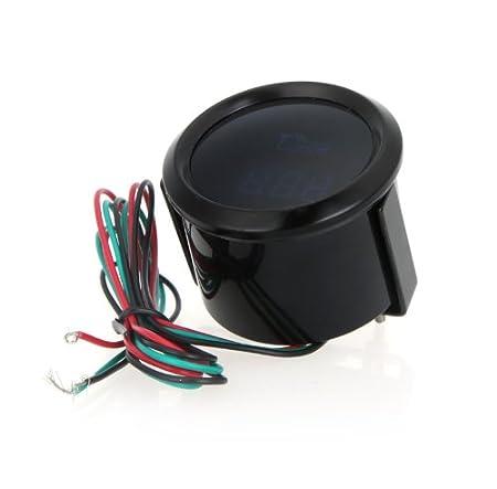 9999 KKmoon digitaler Tachometer f/ür Auto 52/mm 2/Zoll LCD Drehzahl 0/ mit Warnlicht Schwarz