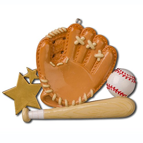 Tree Christmas Personalized Ornament (Baseball Sport Glove Personalized Christmas Tree Ornament)