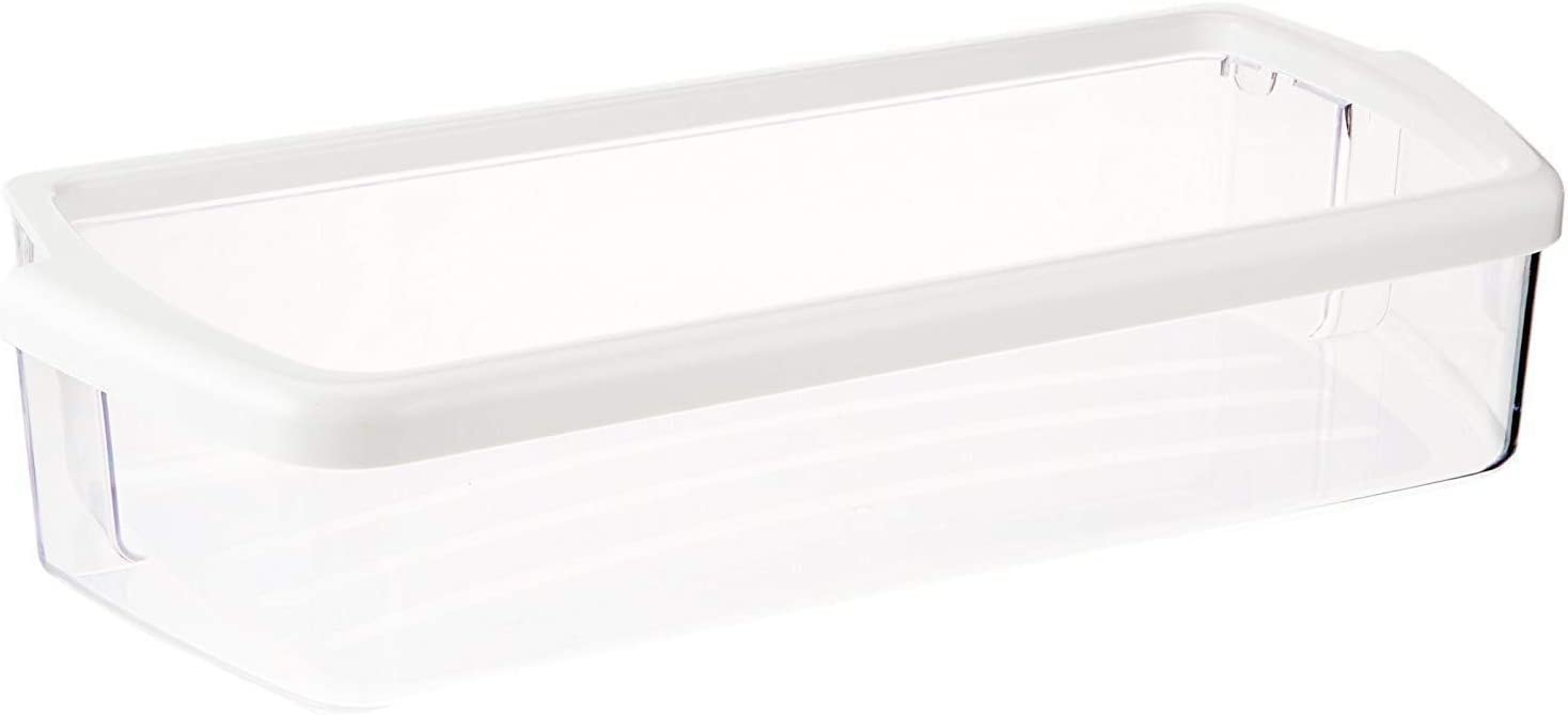 (KS) W10321304 AP4700047 2304235K 2304235 2179607K 2198449K New Clear Door Shelf Bin with White Band on Top Exact Replacement for Whirlpool Refrigerator
