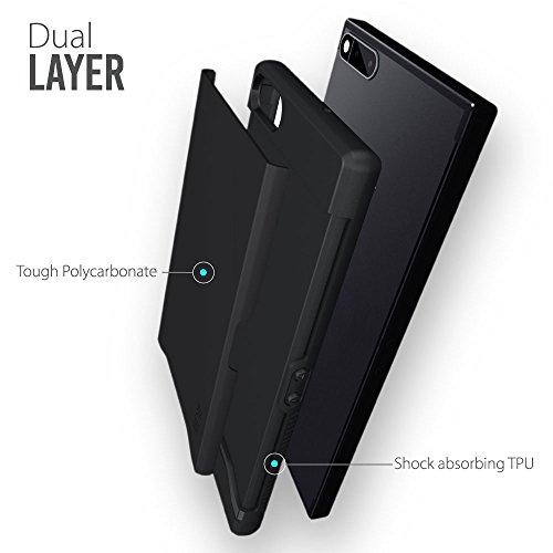 reputable site c30a0 ecb81 TUDIA Razer Phone Case, Slim-Fit HEAVY DUTY [MERGE] EXTREME  Protection/Rugged but Slim Dual Layer Case for Razer Phone (2017 Version)  (Matte Black)