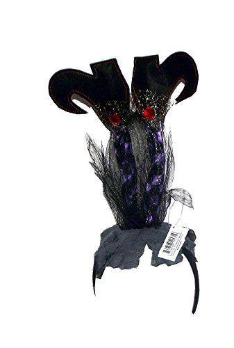 180 Degrees Grounded Witch Halloween Headband, One Size (Purple) ()