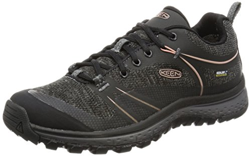 KEEN Women's Terradora Waterproof Hiking Shoe, Raven/Rose Dawn, 8 M US by KEEN