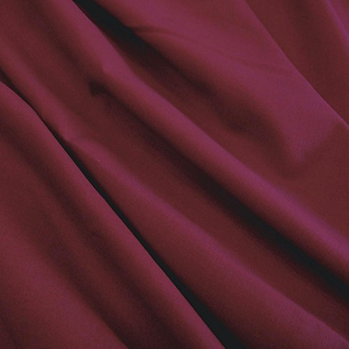 Solid Maroon Polyester Cotton Fabric Poplin Soft 58