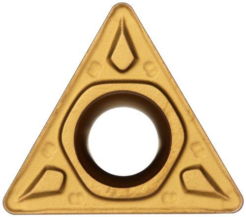 (Sandvik Coromant CoroTurn 107 Carbide Turning Insert, TCMT, Triangle, MF Chipbreaker, GC2025 Grade, Multi-Layer Coating, TCMT 1.8(1.5)1-MF, 7/32