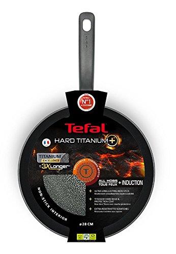 Tefal C69506 Hard Titanium Plus Pfanne, 28cm, antihaftbeschichtet, Aluminium, schwarz 4