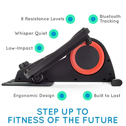 Cubii Pro Under Desk Elliptical, Bluetooth Enabled, Sync with Fitbit and HealthKit, Adjustable Resistance, Easy Assembly (Noir) by Cubii (Image #1)