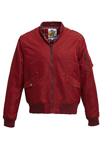 Rojo Hombre Impermeable Harrington Bordeaux para xnztwC