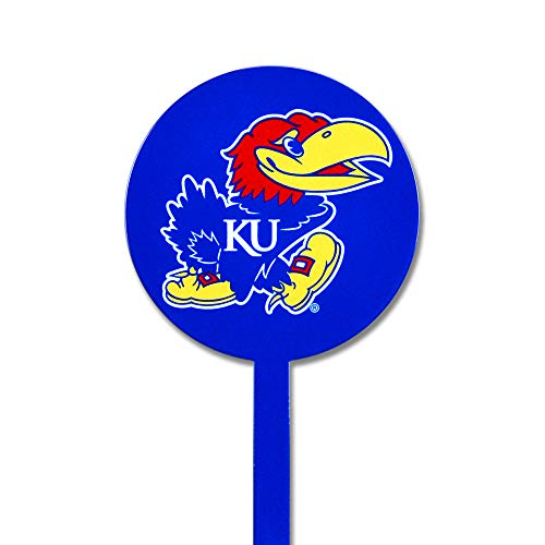 Authentic Street Signs NCAA Kansas Jayhawks Garden Decor - Decorative Metal Yard Stake, Indoor/Outdoor, -