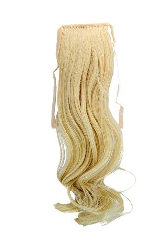 Haarteil ZOPF Blond, Hellblond wellig 45cm YZF-TC18-88 Band Haar Klammer Haarverlängerung