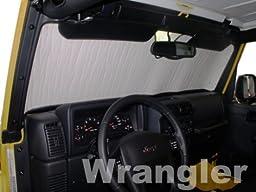 Sunshade for Jeep Wrangler 1997 1998 1999 2000 2001 2002 2003 2004 2005 2006 Heatshield Brand Windshield Custom-fit Sunshade