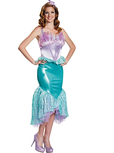 Disguise Women's Ariel Deluxe Adult Costume, Multi, Small -