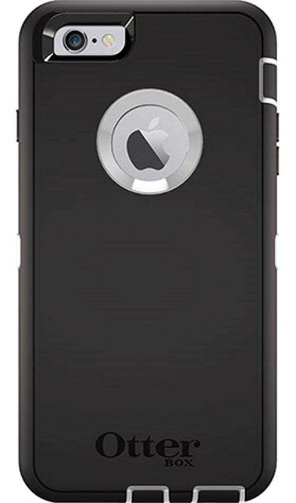 OtterBox Defender Case for iPhone 6 Plus/6S Plus (ONLY) with Holster/Clip - Bulk Packaging - Black/White