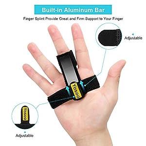 Trigger Mallet Finger Splint, Built-in Aluminium Support Trigger Straightening Finger Brace Finger Splint for Sprains, Pain Relief, Mallet Injury, Arthritis, Tendonitis