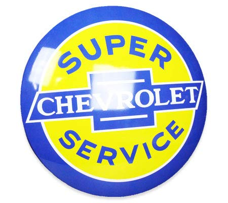 Officially Licensed Chevy Super Service Hanging Metal Sign Wall Decor for Bar, Garage or Man Cave (15