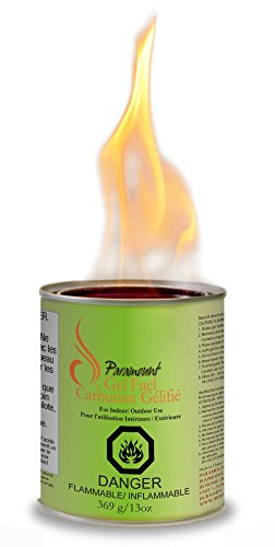 Paramount GF-CAN-03 Indoor/Outdoor Gel Burner Fuel (24 Pack), Regular - Outdoor Gel