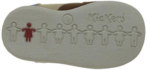 Kickers Babystan - Patucos de cuero Bebé - niño Beige (Beige Foncé Bleu)