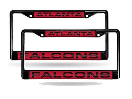 - Rico Atlanta Falcons Black Metal (2) Laser License Plate Frame Set